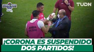 ¡SUSPENDIDO! Jesús Corona es CASTIGADO por altercado con comisario de Liga BBVA MX   TUDN