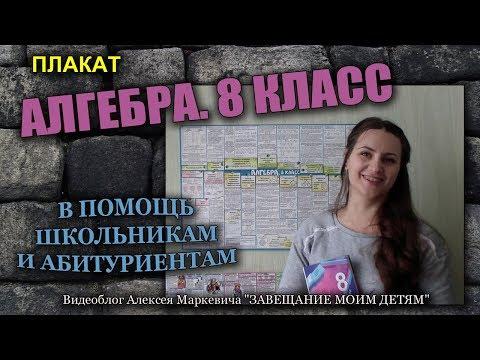 """Обзор плаката """"АЛГЕБРА. 8 КЛАСС"""" от автора."""
