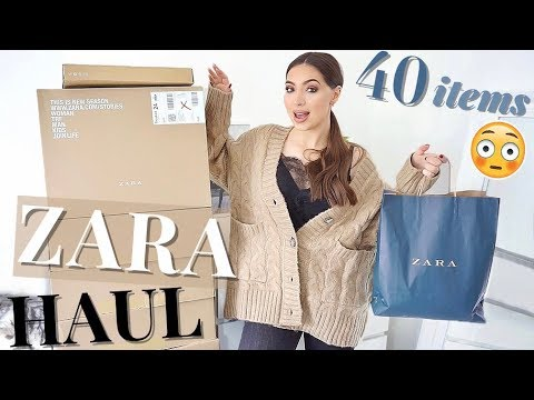 I Ordered 40 Items From Zara ? | Huge ZARA Autumn Winter Haul & Try On 3