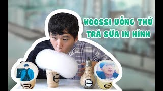 REVIEW TRÀ SỮA IN HÌNH | Woossi Uống Thử Các Loại Trà Sữa Độc Lạ Ở Boo Coffee