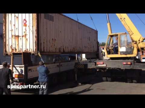 Перевозка контейнера. Ивановец 25 тонн. Спецпартнер.рф