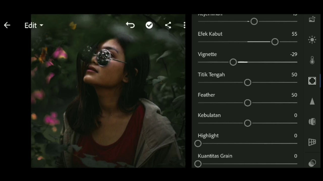 DARK GREEN Adobe Lightroom Mobile || Cara Edit Foto Keren ...
