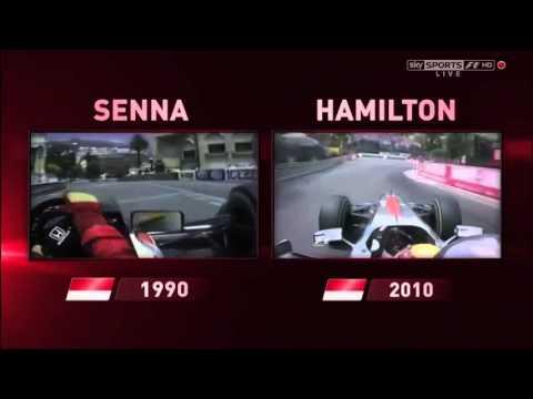 Lewis Hamilton vs Ayrton Senna: Comparison Monaco Sky F1