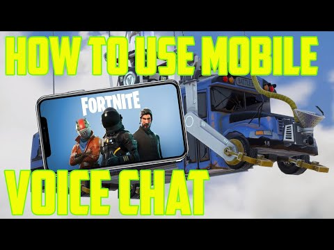 How To Turn On Voice Chat On Fortnite Mobile 2019