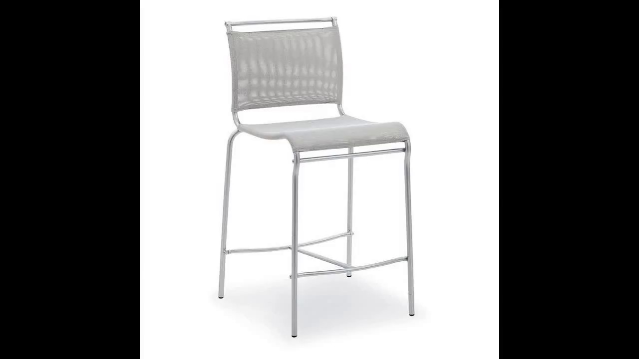 overview calligaris l eau counter stool - small furniture - YouTube