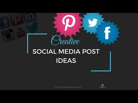 Creative Social Media Post Ideas Youtube