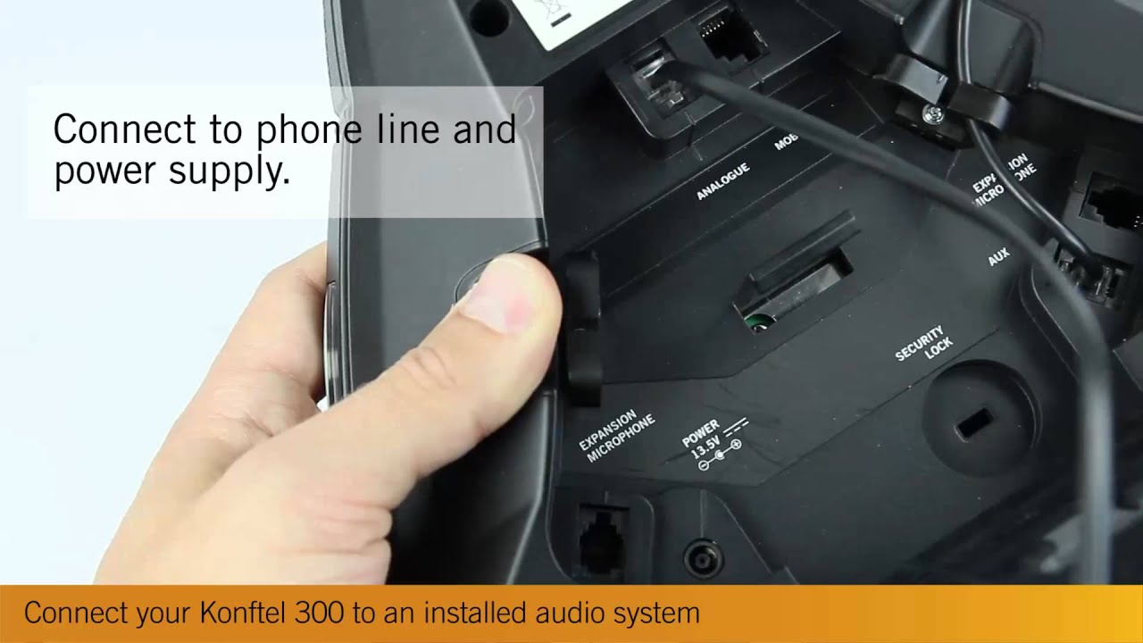 connect your konftel 300  300ip to an installed audio