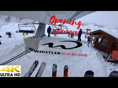 WhistlerBlackcomb Opening Day 2018 In 4K Winter Edition