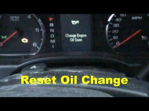 Chevy Trailblazer Service Light Oil Life Reset Guide Youtube