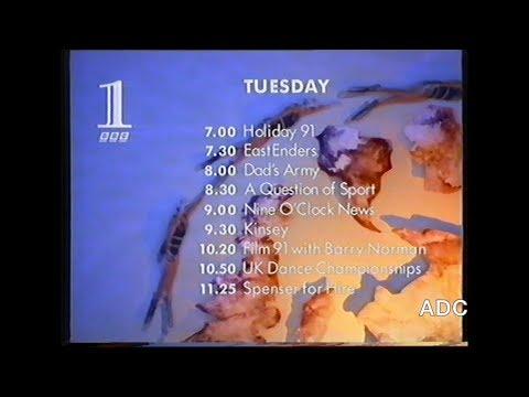 BBC1 closedown announcer David Allan 1st April 1991