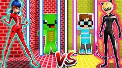 LADYBUG GEFÄNGNIS vs. CAT NOIR MIRACULOUS GEFÄNGNIS in Minecraft!