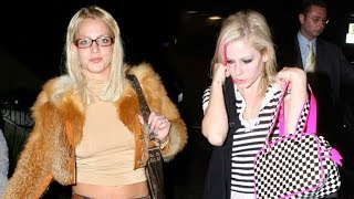 pop queens britney spears and avril lavigne party together in hollywood 2007