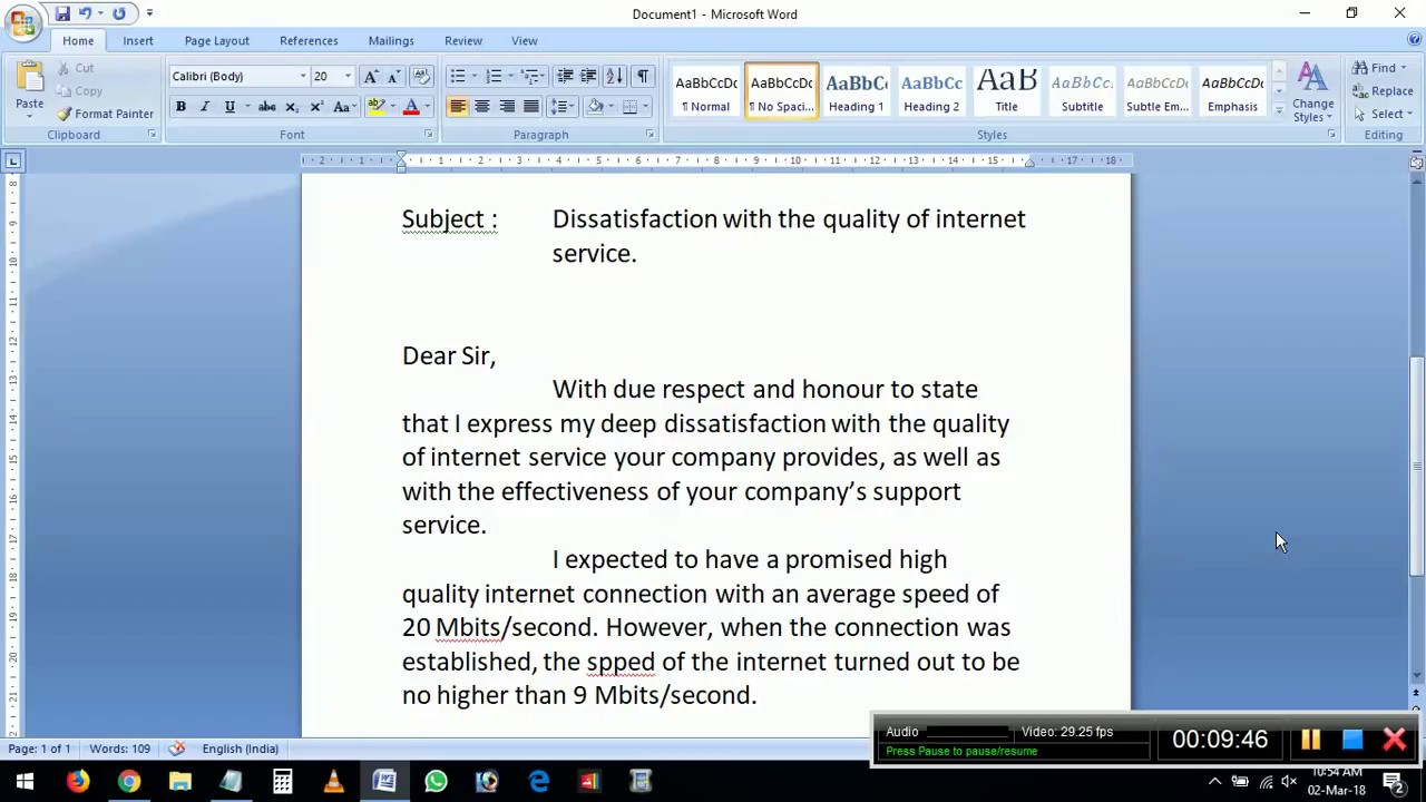Over the phone skills resume resume for dummies 7th edition pdf complaint letter to internet service provider isp bsnl airtel spiritdancerdesigns Images