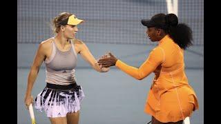 Serena/Wozniacki vs. Flipkens/Van Uytvanck | 2020 ASB Classic Semifinal | WTA Highlights