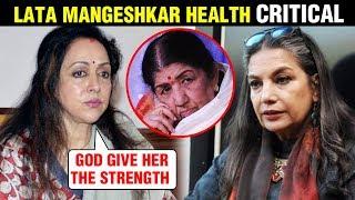Lata Mangeshkar Health CRITICAL, Put On Ventilator   Hema Malini, Shabana Azmi REACT