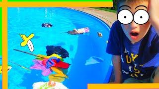 Тима собирается плавать и купаться в бассейне