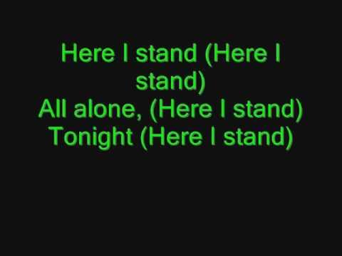 Madina Lake-Here I stand lyrics