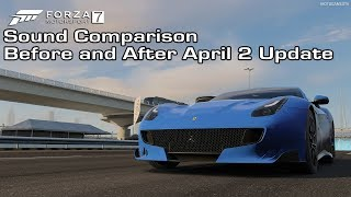Forza Motorsport 7 - Ferrari F12tdf Sound Comparison - Before and After April 2 Update