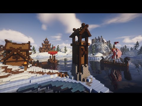 Transforming A Snowy Tundra Biome | Minecraft Nordic Village Build Timelapse [DOWNLOAD]