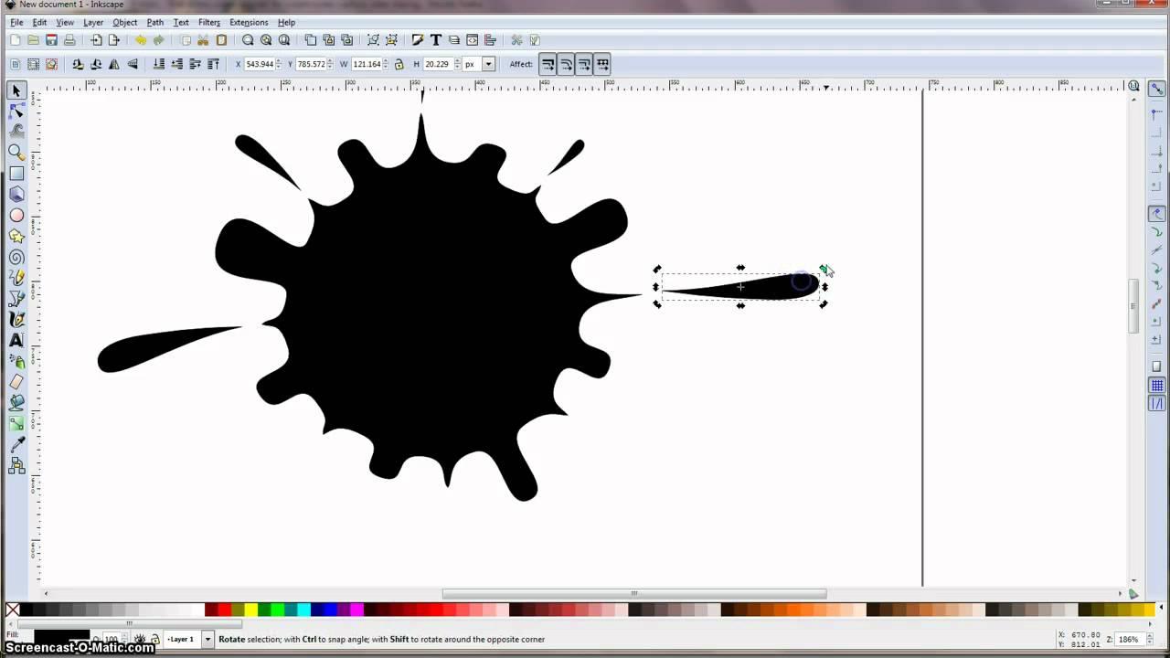 Inkscape Tutorial Ink Splash Youtube