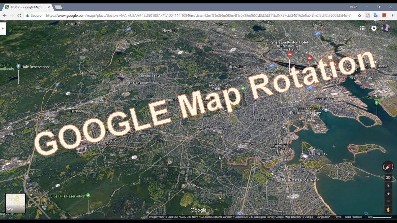 Rotate Google Map on PC