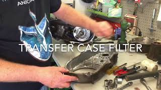 Transfer case repair, transmission replacement