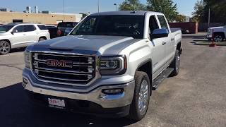 2018 GMC Sierra 1500 SLT Premium eAssist Flex Fuel Navigation Silver Oshawa ON Stock #180141