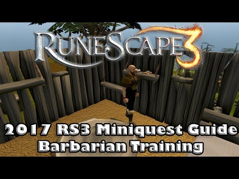 RS3 Miniquest Guide - Barbarian Training - How To Gain Access To The Ancient Caverns!