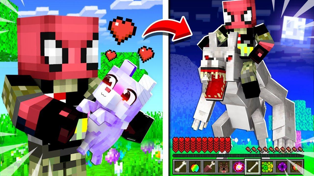 FAKİR YAVRU KURT SAHİPLENDİ! 😱🐺 - Minecraft
