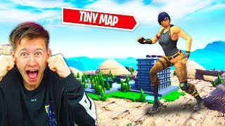 TINY Fortnite Map Challenge *Little Brother Gets $10,000 If He WINS*