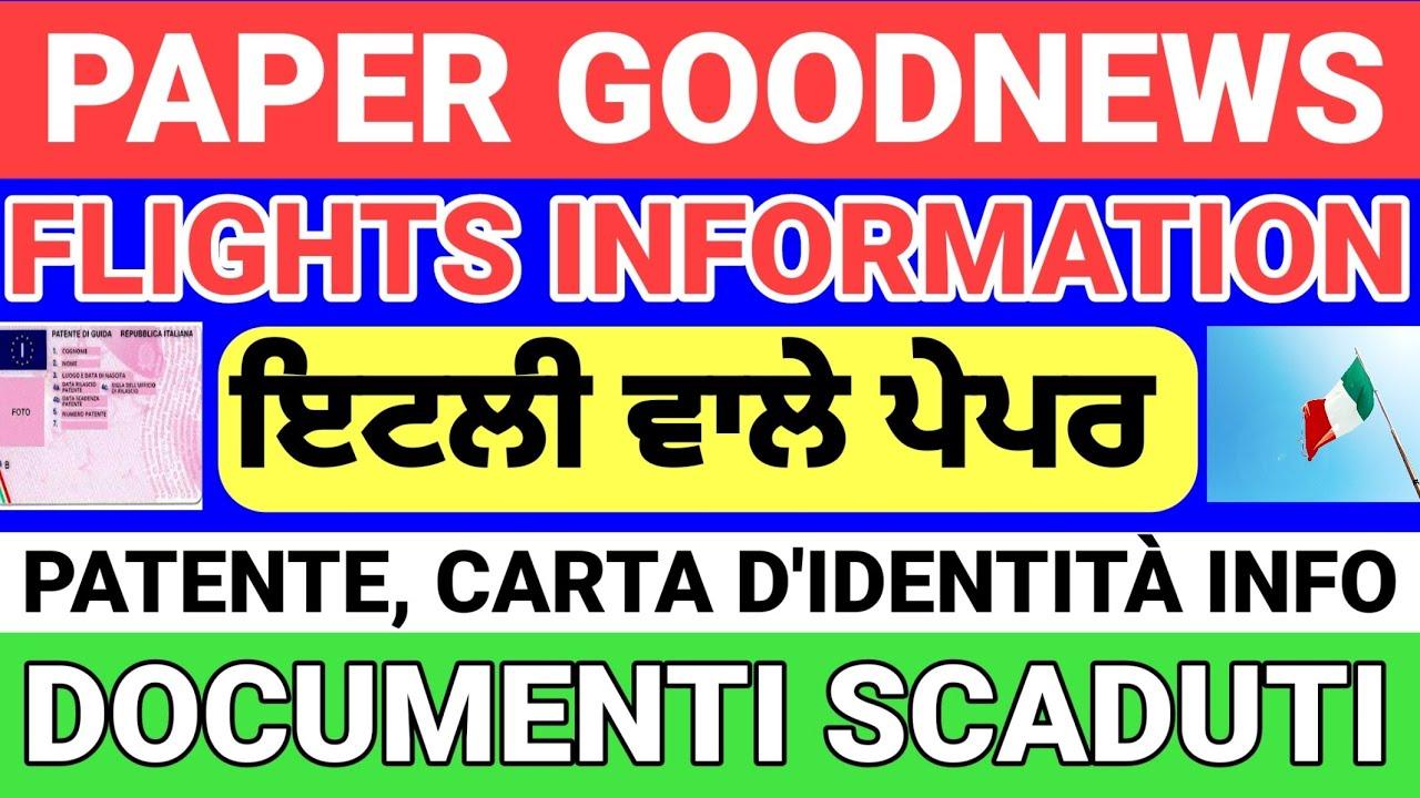 ITALIAN NEWS / PAPER UPDATE/ EXPIRE DOCUMENT  INFORMATION