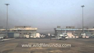 Runway of Indira Gandhi International Airport
