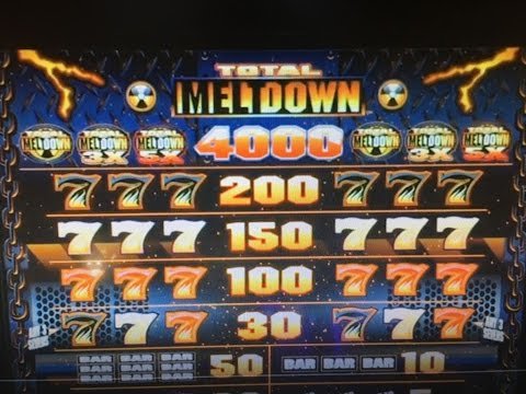 Free Play Live★TOTAL MELTDOWN Dollar Slot Machine Max Bet $5 Harrah's Casino Indian