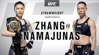 UFC 261: Zhang Weili vs Rose Namajunas Highlights