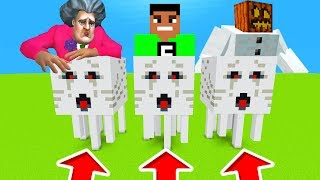 Minecraft PE : DO NOT CHOOSE THE WRONG GHAST! (Scary Teacher, FuzionDroid & Mutant Snow Golem)