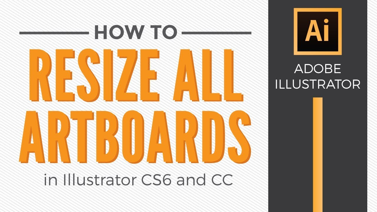 Design large banner in illustrator - How To Resize All Artboards In Adobe Illustrator Graphic Design How To
