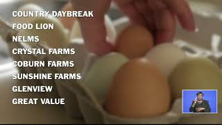 DEPT. OF AGRICULTURE ON VOLUNTARY EGG RECALL