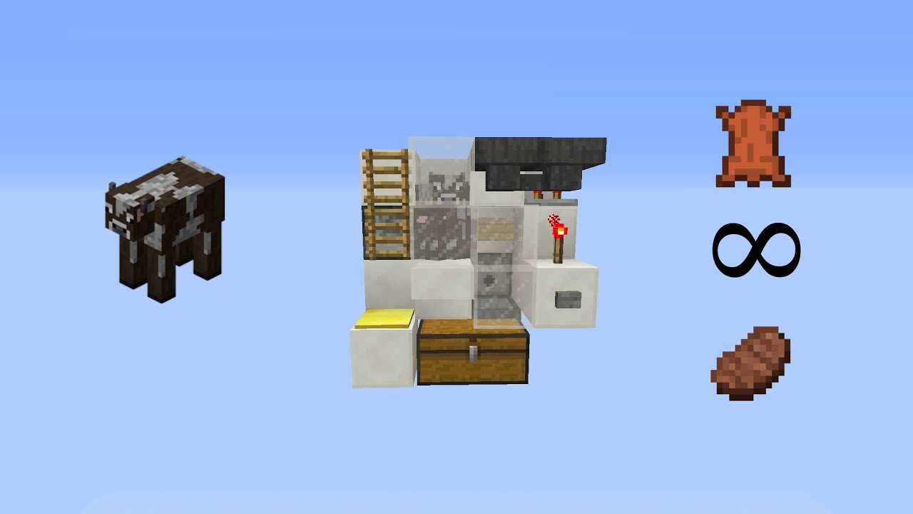 minecraft ferme vaches semi automatique ultra compacte 4x4x3 youtube. Black Bedroom Furniture Sets. Home Design Ideas