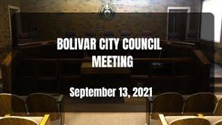Bolivar City Council-September 13, 2021