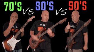 70's VS 80's VS 90's (Guitar Riffs Battle)