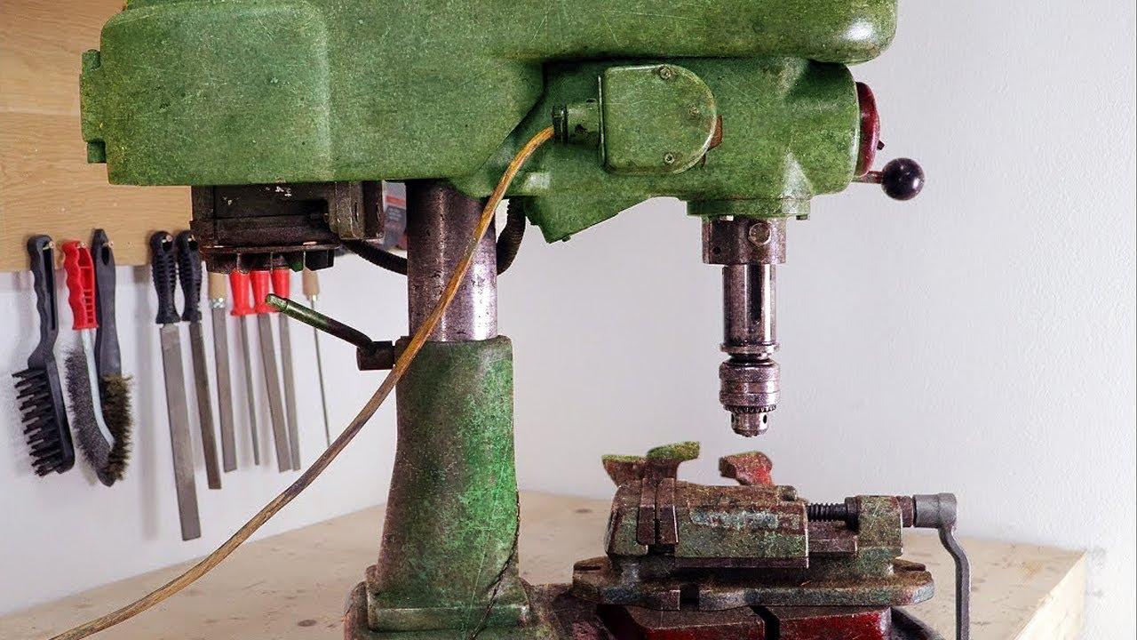 Old Drill Press Restoration - YouTube