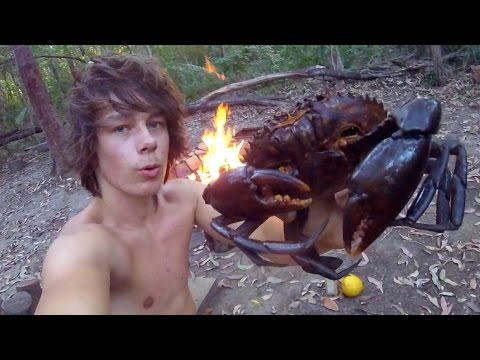MUDCRAB Catch n Cook! Caught Using a CRAB POT