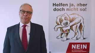 Statement zur Unternehmens-Verantwortungs-Initiative, Andreas Burckhardt, Präsident Baloise Holding