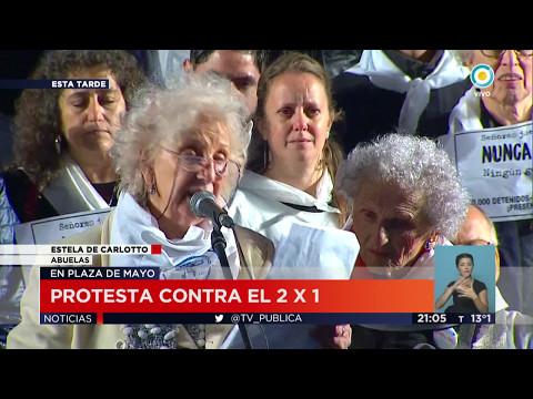 TV Pública Noticias - Protesta contra el 2x1 en Plaza de Mayo