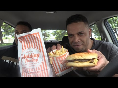 Eating WHATABURGER @Hodgetwins