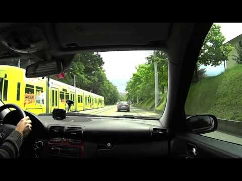 Driving from Meyrin to Geneva centre (GE)