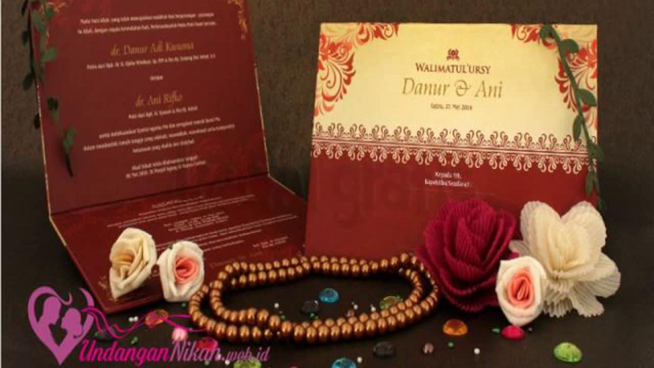 Wa 0878 3816 1150 Contoh Undangan Pernikahan Islami Youtube