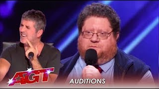 Kevin Schwartz: He's Nervous But This Comedian Proves Doubters Wrong! | America's Got Tale