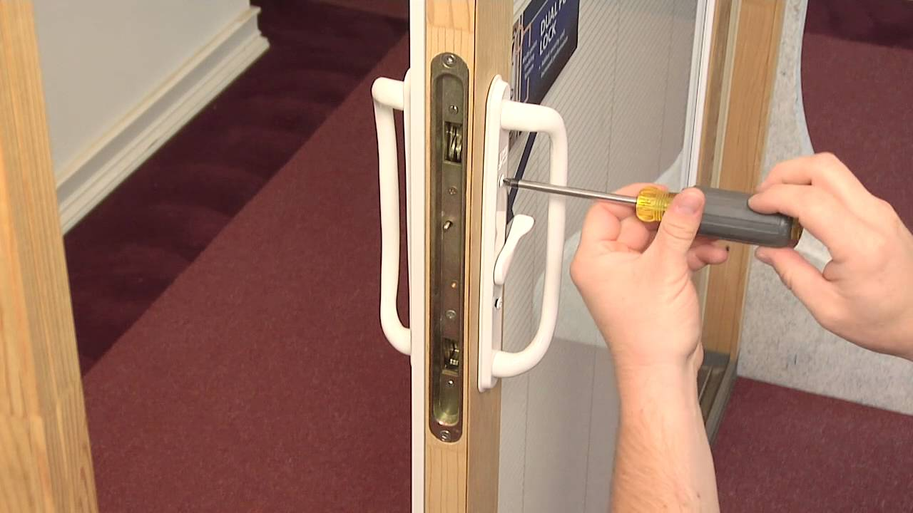 how to replace the dual point lock in a builders wood sliding patio door