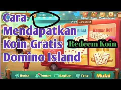 Mudah Cara Mendapatkan Koin Gratis Dari Game Domino Island Youtube
